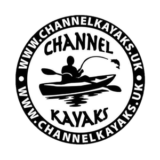 """Channel Kayaks"" logo with a white background at a resolution of 300 by 300 pixels"