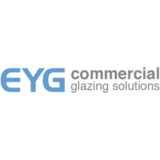 """EYG Commercial Glazing Solutions"" logo with a white background at a resolution of 300 by 300 pixels"
