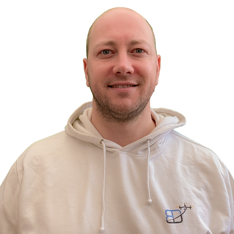 Portrait head shot photo of Philippe Francken wearing a Bristol Drones hoody