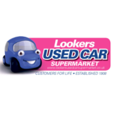 """Lookers Used Cars Supermarket"" logo with a white background at a resolution of 300 by 300 pixels"