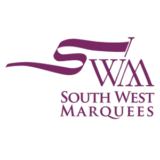 """South West Marquees"" logo with a white background at a resolution of 300 by 300 pixels"