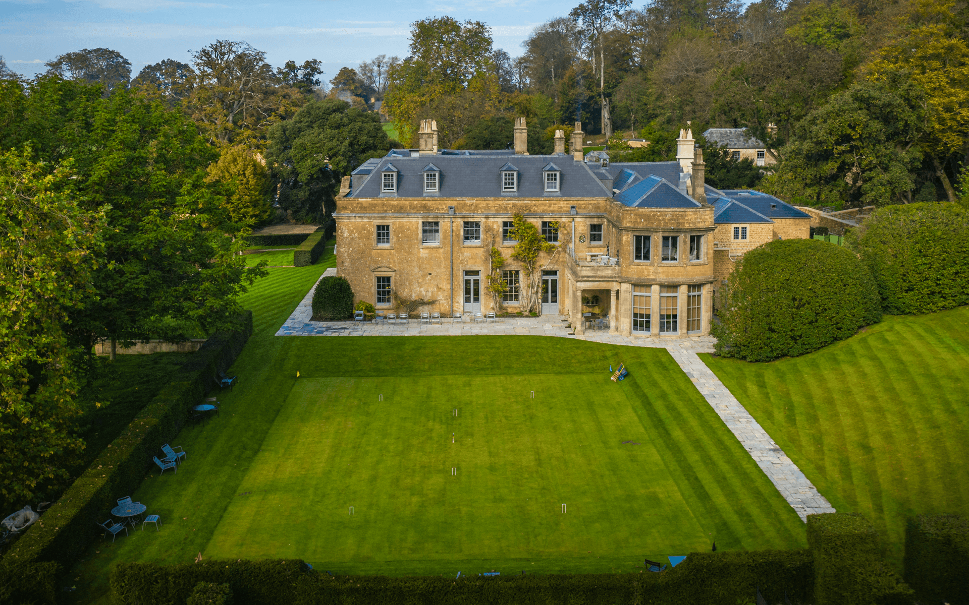 """Mavic 2 Pro"" aerial drone photo of ""The Newt"" Hotel in Somerset"