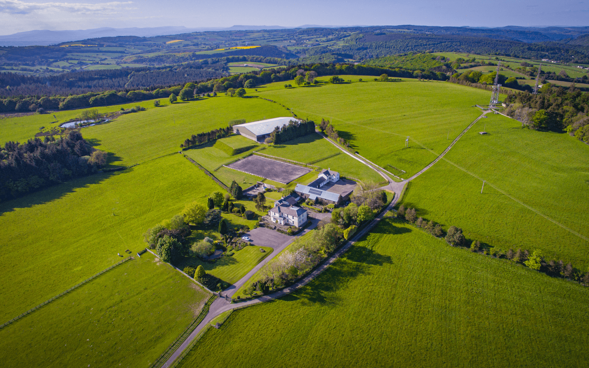 """DJI Inspire 1"" aerial drone photo of Gaer Hill Farm in Chepstow, Wales"