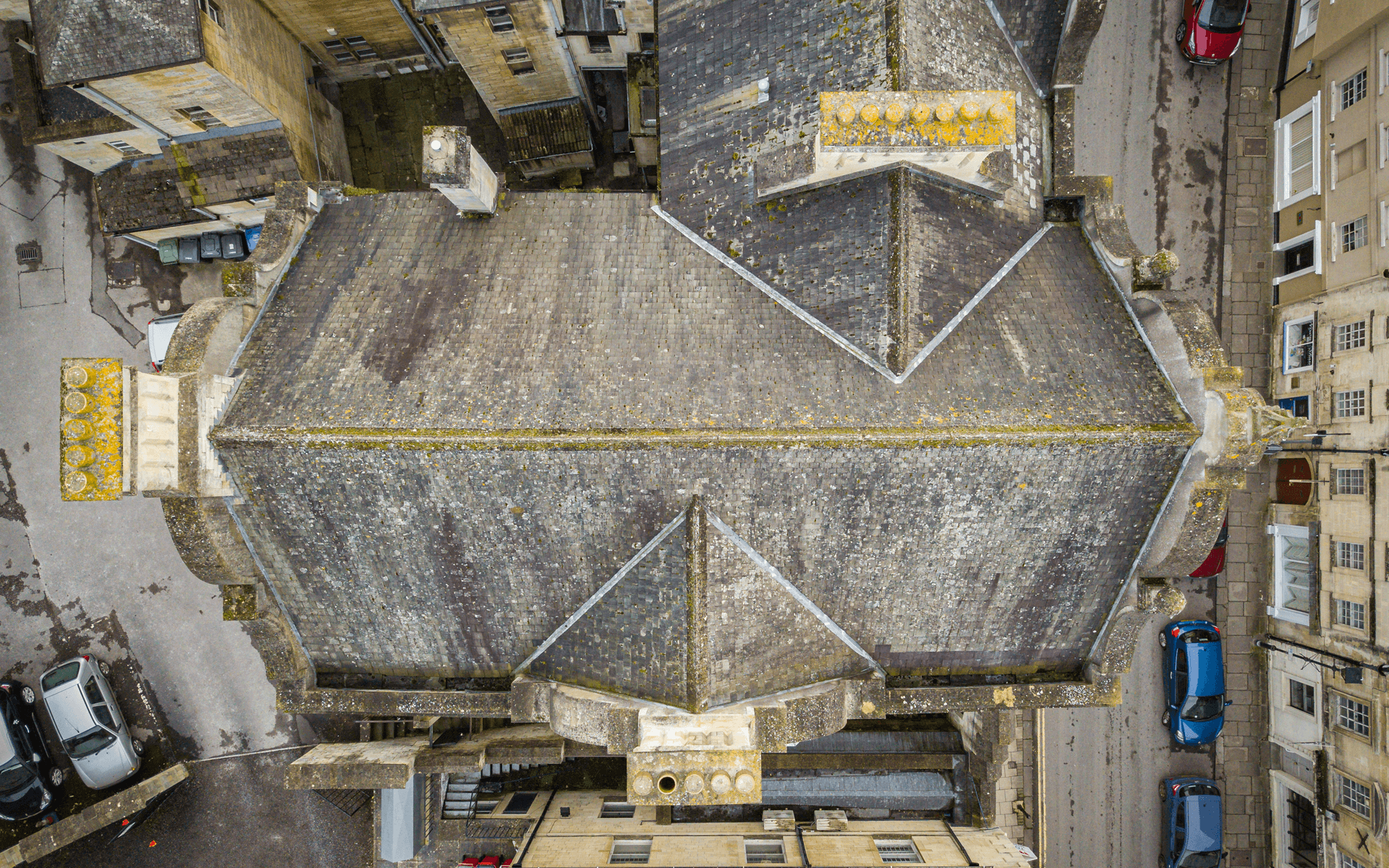 """Mavic 2 Pro"" aerial drone photo for a roof survey of a Church in Bradford-on-Avon"